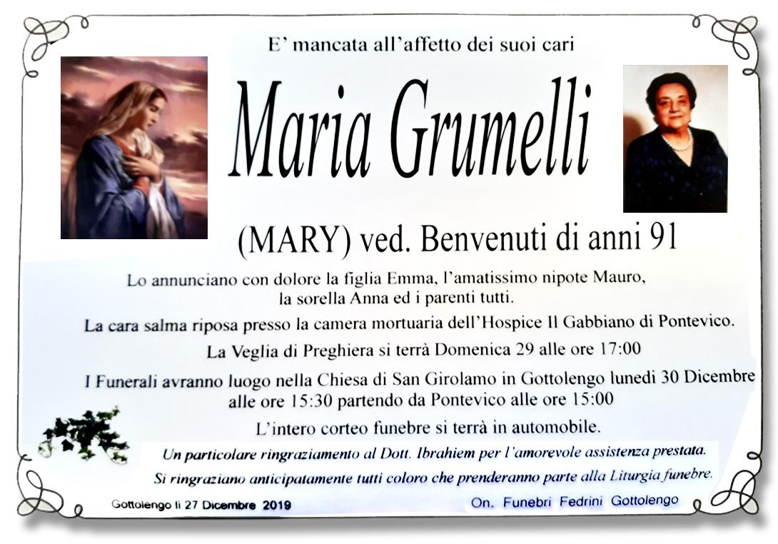 MARIA GRUMELLI - GOTTOLENGO