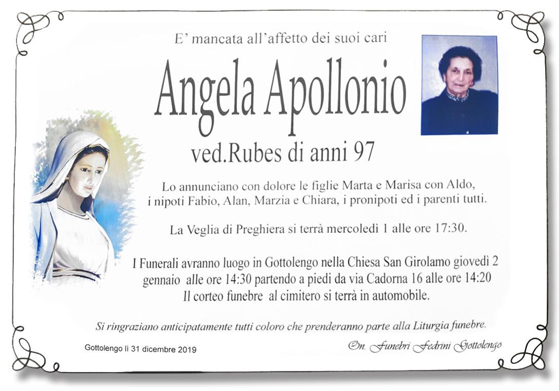 ANGELA APOLLONIO - GOTTOLENGO